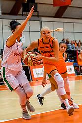 21-11-2018 NED: Netherlands - Bulgaria, Amsterdam<br /> Qualify FIBA Women's EuroBasket 2019 at Sporthallen Zuid Amsterdam / Group Phase Group F, Final Score 89-68 / Hristina Ivanova #5 of Bulgaria, Loyce Bettonvil #3 of Netherlands