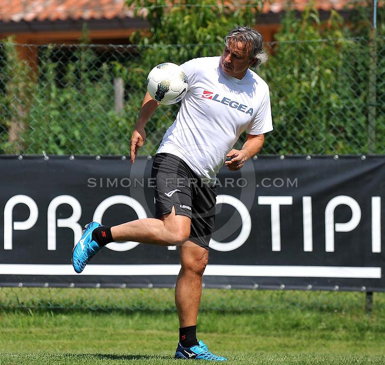 Arta Terme (UD), 27/07/2011.Campionato di calcio Serie A 2011/2012.Andrea Carnevale..© foto di Simone Ferraro