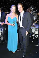 Cricketer NICK COMPTON and NICOLE PAXTON at the Chovgan Twilight Polo Gala in association with the PNN Group held at Ham Polo Club, Petersham Close, Richmond, Surrey on 10th September 2014.
