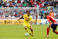 August 1, 2017 - Munich, Germany - Napoli's Brazilian midfielder Allan (L) in action during the Audi Cup 2017 match between Club Atletico de Madrid and SSC Napoli at Allianz Arena on August 1, 2017 in Munich, Germany. (Credit Image: © Paolo Manzo/NurPhoto via ZUMA Press)