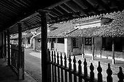 View out on to street in the South India town of Thittacheri. A home in Thittacheri. South India.