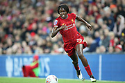 Liverpool women forward Rinsola Babajide (20) during the FA Women's Super League match between Liverpool Women and Everton Women at Anfield, Liverpool, England on 17 November 2019.