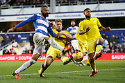 QPR Midfielder Sandro sets his sights on goal during the Sky Bet Championship match between Queens Park Rangers and Leeds United at the Loftus Road Stadium, London, England on 28 November 2015. Photo by Andy Walter
