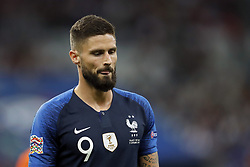 Olivier Giroud of France during the UEFA Nations League A group 1 qualifying match between France and The Netherlands on September 09, 2018 at Stade de France in Saint Denis,  France