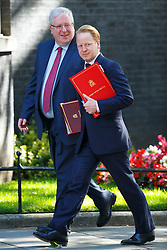 © Licensed to London News Pictures. 19/07/2016. London, UK. Party Chairman PATRICK MCLOUGHLIN and BEN GUMMER attending the first cabinet meeting under Theresa May's leadership in Downing Street on Tuesday, 19 July 2016. Photo credit: Tolga Akmen/LNP