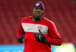 Jozy Altidore during training session of USA National team before FIFA World Cup 2010 soccer match against Slovenia at  Ellis Park Stadium on June 17, 2010 in Johannesburg, South Africa.  (Photo by Vid Ponikvar / Sportida)