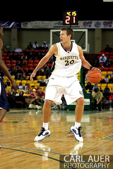 25 November 2005: Golden Eagle Steve Novak (20) in the Marquette University 73-70 victory over Oral Roberts University at the Great Alaska Shootout in Anchorage, Alaska