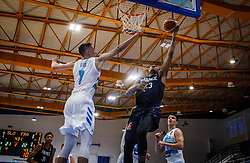 Glas  Gregor of Slovenia vs Begarin  Juhann of France during basketball match between National teams of Slovenia and France in the Group Phase C of FIBA U18 European Championship 2019, on July 27, 2019 in Nea Ionia Hall, Volos, Greece. Photo by Vid Ponikvar / Sportida