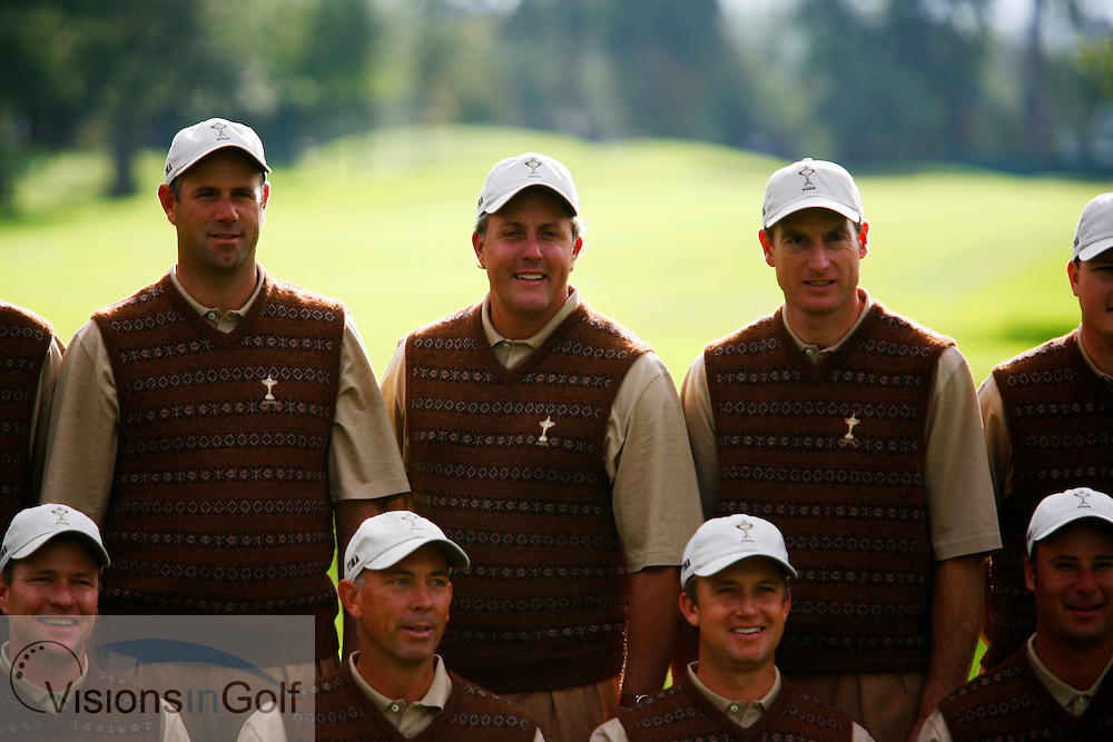 The USA Team Photocall,mickelson, Cink, furyk, Captain Lehman<br /> at the Ryder Cup Matches 2006, K Club, Ireland, 060921<br /> Picture Credit: Mark Newcombe / visionsingolf.com