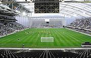 View of the Forsyth Barr Stadium,  A-League football pre season match - Wellington Phoenix v Brisbane Roar at Forsyth Barr Stadium, Dunedin, New Zealand on Saturday, 20 August 2011. Photo: Richard Hood/photosport.co.nz