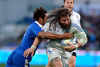 Rome, Italy -Castrogiovanni realized try the final result 23-18 during Italia vs Francia race of the championship rugby SIX NATIONS played at the Olimpico in Rome.(Credit Image: © Gilberto Carbonari/).