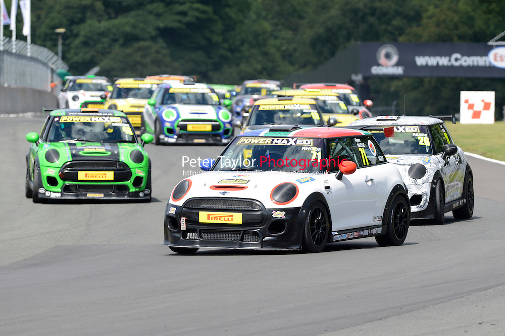 #71 Ryan Rhode Mini F56 during Power Maxed Mini Challenge - F56/JCW - Race 1 as part of the Mini Festival  at Oulton Park, Little Budworth, Cheshire, United Kingdom. August 08 2015. World Copyright Peter Taylor. Copy of publication required for printed pictures.  Every used picture is fee-liable. http://archive.petertaylor-photographic.co.uk