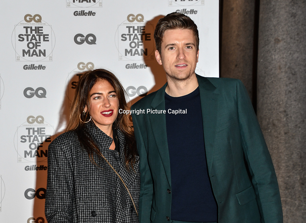Bella Mackie and Greg James Arrivers at GQ 30th Anniversary celebration at Sushisamba, The Market, Convent Garden on 29 October 2018.