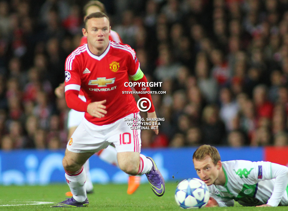 MANCHESTER, ENGLAND - SEPTEMBER 30 2015:  during the Champions League match between Manchester United and Vfl Wolfsburg at Old Trafford Stadium on September 30, 2015