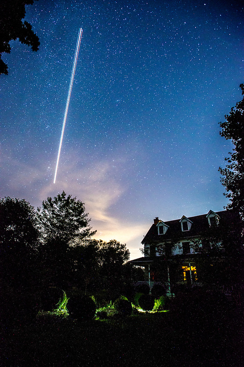 The Perseid meteor shower, photographed from a farm property in northern Maryland.