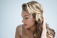 Pensive young woman close-up