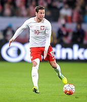 2016.03.23 Poznan<br /> Pilka Nozna Reprezentacja Mecz towarzyski<br /> Polska - Serbia<br /> N/z Grzegorz Krychowiak<br /> Foto Rafal Rusek / PressFocus<br /> <br /> 2016.03.23 Poznan<br /> Football Friendly Game<br /> Poland - Serbia<br /> Grzegorz Krychowiak<br /> Credit: Rafal Rusek / PressFocus