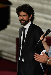 October 5, 2016 - Vatican City, Vatican - Damiano Tommasi during Conference Sport at service of humanity, at the Vatican on october 05, 2016  The goal of the conference is to create a forum where leaders from different religious faiths, sports, business, academia and media can discuss how faith and sport can work together to better serve humanity. (Credit Image: © Silvia Lore/NurPhoto via ZUMA Press)