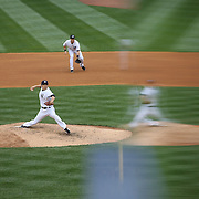 Masahiro Tanaka, New York Yankees, pitching during the New York Yankees V Tampa Bay Rays, Major League Baseball game at Yankee Stadium, The Bronx, New York. 3rd May 2014. Photo Tim Clayton