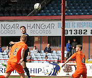 Ben Priest heads towards goal - Dundee v Kilmarnock, SPFL Under 20s Development League at Dens Park<br /> <br />  - &copy; David Young - www.davidyoungphoto.co.uk - email: davidyoungphoto@gmail.com
