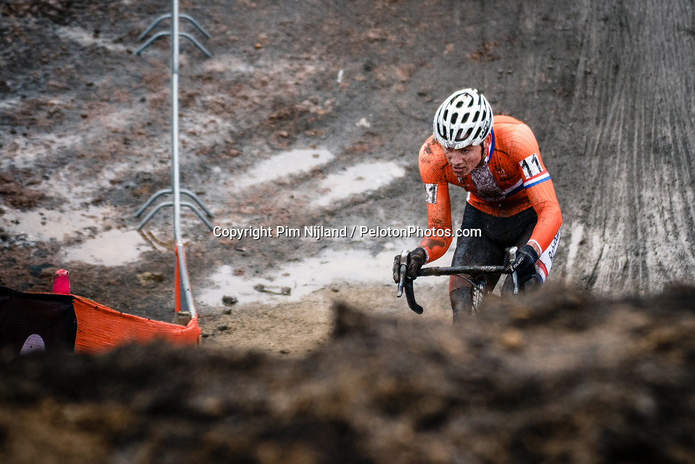 Mathieu VAN DER POEL of NED during the Men Elite race, UCI Cyclo-cross World Championship at Bieles, Luxembourg, 29 January 2017. Photo by Pim Nijland / PelotonPhotos.com | All photos usage must carry mandatory copyright credit (Peloton Photos | Pim Nijland)