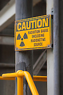 Radiation caution sign.<br /> <br /> Larger JPEG + TIFF images available by contacting use through our contact page at : www.effectiveworkingimage.com