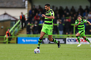 Forest Green Rovers Omar Bugiel(11) on the ball during the Pre-Season Friendly match between Forest Green Rovers and Bristol Rovers at the New Lawn, Forest Green, United Kingdom on 22 July 2017. Photo by Shane Healey.