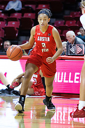 NORMAL, IL - December 04: Nieja Crawford during a college women's basketball game between the ISU Redbirds  and the Austin Peay Governors on December 04 2018 at Redbird Arena in Normal, IL. (Photo by Alan Look)