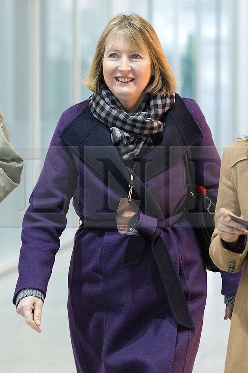 """© Licensed to London News Pictures . 01/03/2014 . London , UK . Harriet Harman arrives ahead of the conference . The Labour Party hold a one day """" Special Conference """" at the Excel Centre in London today (Saturday 1st March 2014) . Photo credit : Joel Goodman/LNP"""