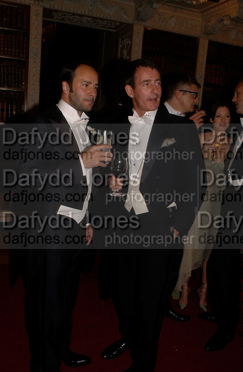 Tom Ford and Tim Jefferies, Ball at Blenheim Palace in aid of the Red Cross, Woodstock, 26 June 2004. SUPPLIED FOR ONE-TIME USE ONLY-DO NOT ARCHIVE. © Copyright Photograph by Dafydd Jones 66 Stockwell Park Rd. London SW9 0DA Tel 020 7733 0108 www.dafjones.com