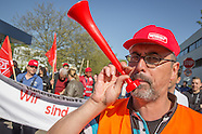 Metalworkers on strike in Berlin