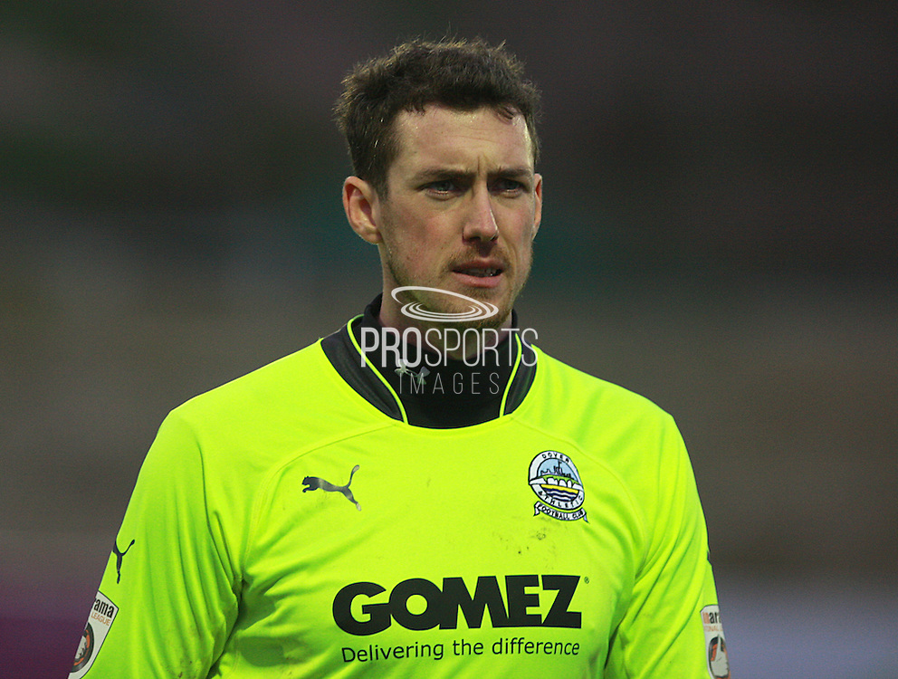 Dover goalkeeper Andy Rafferty during the FA Trophy match between Whitehawk FC and Dover Athletic at the Enclosed Ground, Whitehawk, United Kingdom on 12 December 2015. Photo by Bennett Dean.
