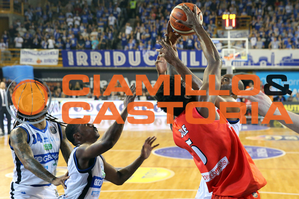 Pelle Norvel<br /> Germani Basket Brescia vs Openjobmetis Varese<br /> Lega Basket Serie A 2016/2017<br /> Citt&agrave; 19/03/2017<br /> Foto Ciamillo-Castoria/A.Gilardi