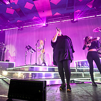 Clean Bandit in concert at The Barrowland Ballroom, Glasgow, Scotland, Britain 29th October 2017