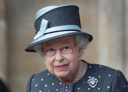 © Licensed to London News Pictures. 30/06/2016. London, UK.  Queen Elizabeth II leaves Westminster Abbey after attending The Battle of the Somme Centenary Service and Vigil. An overnight vigil at the Grave of the Unknown Warrior will start tonight and end at 0730 tomorrow morning. Photo credit: Peter Macdiarmid/LNP