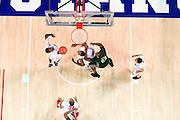 DALLAS, TX - JANUARY 15: Ryan Manuel #1 of the SMU Mustangs grabs a rebound against the South Florida Bulls on January 15, 2014 at Moody Coliseum in Dallas, Texas.  (Photo by Cooper Neill/Getty Images) *** Local Caption *** Ryan Manuel
