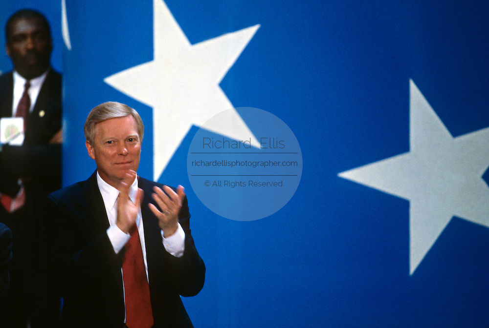 U.S House Minority leader Dick Gephardt applauds during the 1996 Democratic National Convention August 29, 1996 in Chicago, IL.