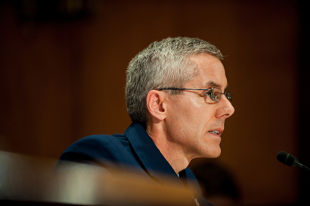 May 17,2010 - Washington, District of Columbia USA - U.S. Coast Guard Rear Admiral Peter Neffenger testifies before the Senate Committee on Homeland Security and Government Affairs about the response to the Deepwater Horizon Oil spill.(Credit Image: © Pete Marovich/ZUMA Press)