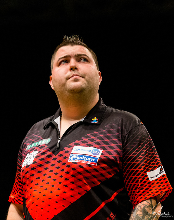 MELBOURNE, Australia - Friday 18 August 2017 : Michael Smith during the Unibet Melbourne Dart Masters at Hisense Arena on Friday 18 August 2017.<br /> <br /> <br /> Photo Credit: Tim Murdoch/Tim Murdoch Photography