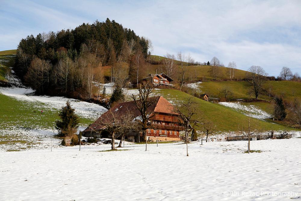 SWITZERLAND LANGNAU JAN12 - Scenic landscape near Langnau im Emmental, Switzerland.....jre/Photo by Jiri Rezac....© Jiri Rezac 2012