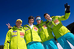 Mitja Valencic, Miha Kuerner, Matic Skube and Janez Jazbec during media day of Slovenian Alpine Ski team on October 17, 2011, in Rudno polje, Pokljuka, Slovenia. (Photo by Vid Ponikvar / Sportida)