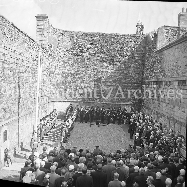 President De Valera at Kilmainham Gaol as part of the 1966 50th anniversary commemorations. <br />