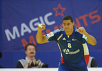 Handball EM Herren 2010 Hauptrunde Deutschland - Frankreich 24.01.2010 Daniel Narcisse (FRA) jubelt