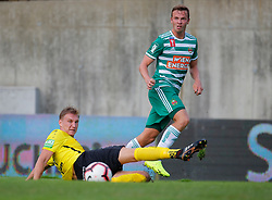 21.07.2019, Sportplatz, Allerheiligen bei Wildon, AUT, OeFB Uniqa Cup, USV Allerheiligen vs SK Rapid Wien, 1. Runde, im Bild Luca Christian Puster (SV Allerheiligen) und Philipp Schobesberger (SK Rapid Wien) // Luca Christian Puster (SV Allerheiligen) and Philipp Schobesberger (SK Rapid Wien) during the ÖFB Uniqa Cup, 1st round match between USV Allerheiligen and SK Rapid Wien at the Sportplatz in Allerheiligen bei Wildon, Austria on 2019/07/21. EXPA Pictures © 2019, PhotoCredit: EXPA/ Erwin Scheriau