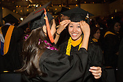 San Jose State students celebrate during the College of Engineering convocaton at San José State University's Event Center in San Jose, California, on May 24, 2013. (Stan Olszewski/SOSKIphoto)