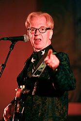 08 November 2014. New Orleans, Louisiana. <br />  2014 International Irish Famine Commemoration, Gallier Hall.<br /> Larry Kirwan, led singer of Irish band 'Black 47.'<br /> Photo; Charlie Varley/varleypix.com