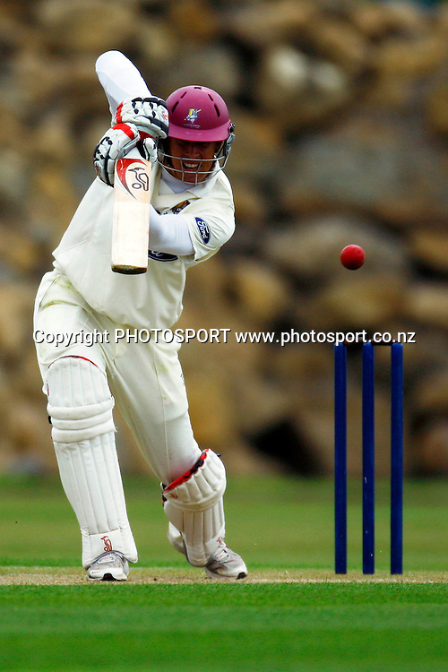 Northern's Joseph Yovich batting, Plunket Shield cricket, Northern Knights v Central Stags. Cobham Oval, Whangarei. Wednesday 18 November 2009. Photo: William Booth/PHOTOSPORT