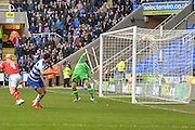 Reading FC midfielder Hal Robson-Kanu scores for Reading during the The FA Cup fourth round match between Reading and Walsall at the Madejski Stadium, Reading, England on 30 January 2016. Photo by Mark Davies.