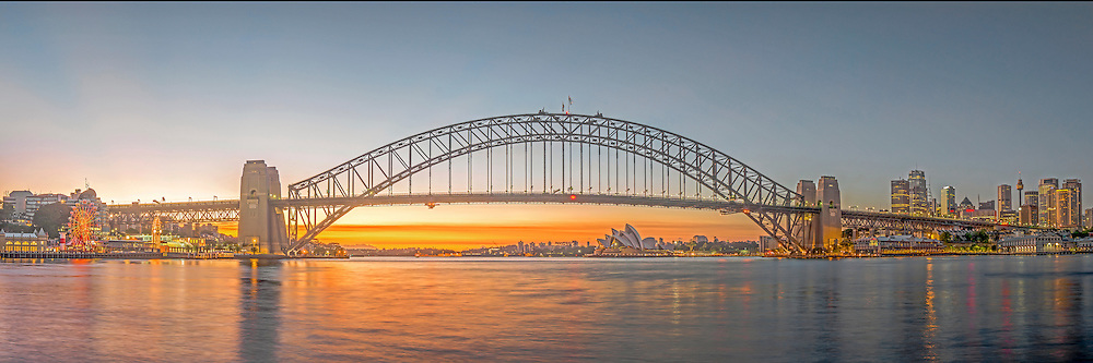 The famous Opera Hourse and Harbour Bridge of Sydney, New South Wales, Australia.