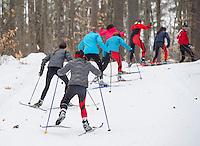 St Paul's School Nordic skate race at Holderness.  Karen Bobotas Photographer